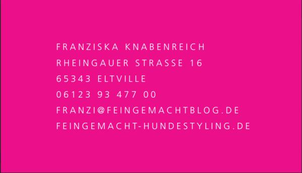 Frankziska Knabenreich dog groomer